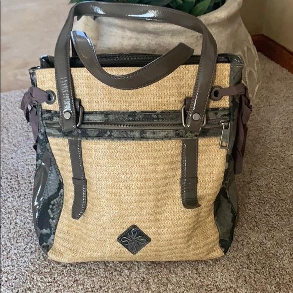 Simply Vera Wang Burlap Shoulder Bag